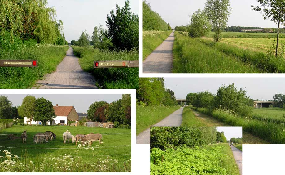 collage wandel- fietsweg